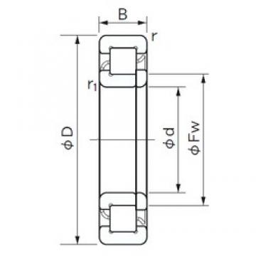 75 mm x 160 mm x 55 mm  NACHI NUP 2315 E cylindrical roller bearings